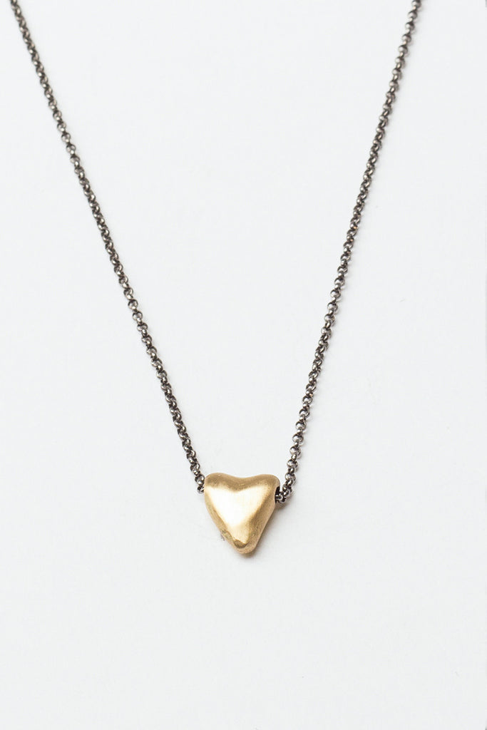 Yellow Gold Sweet Heart Necklace