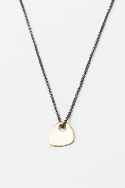 Yellow Gold Medal Necklace