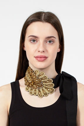 Gloria Gold/Black Necklace