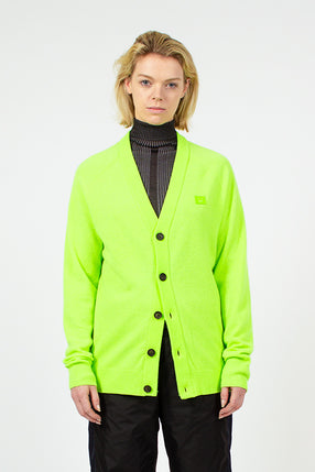 Neve Raglan Face Lime Green Cardigan