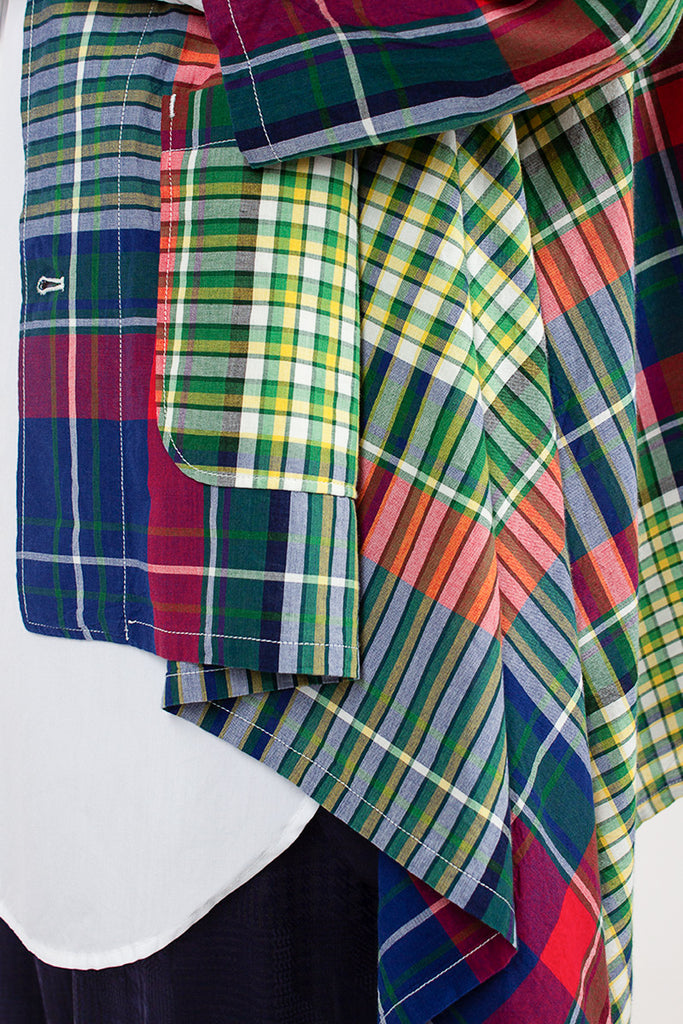 Madras Plaid Raglan Jacket