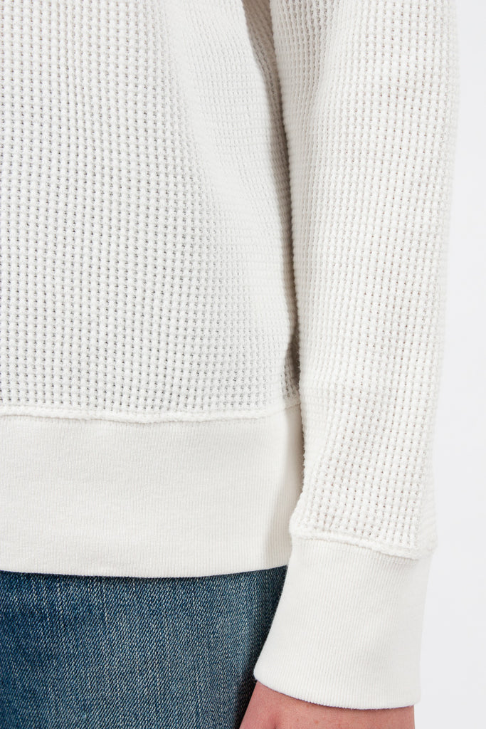 Off White Waffle Knit L/S Tee