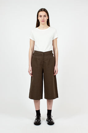 MHL Clinched Waist Olive Culottes