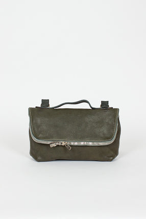M100 Full Grain Green Messenger Bag