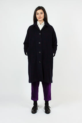 Oliver Navy Wool Coat