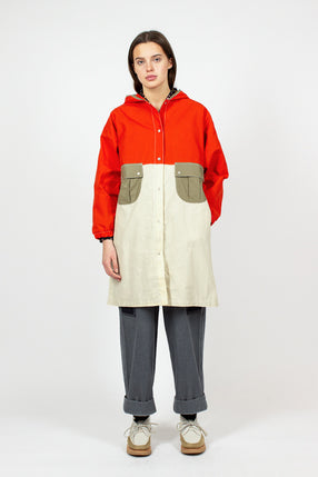 Orange/Off White Galactic Weather Coat