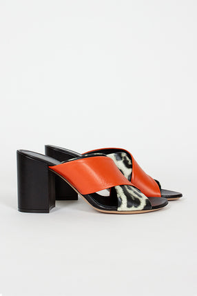 Coral/Leopard Cross Over Mule