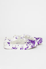 Paint Splattered Asymmetric Ghillie Sneaker