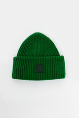 Deep Green Pansy N Face Beanie
