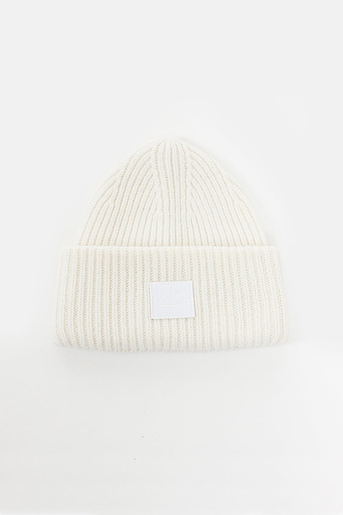 Optic White Pansy N Face Beanie