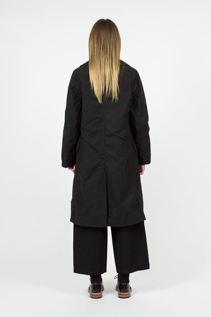 Dry Wax Cotton Overcoat
