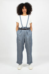 Jumbo Pastoral Pants Navy Stripe
