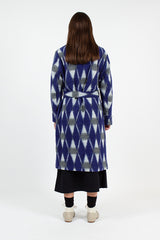 CLOSED X Nigel Cabourn Patriot Blue Gown Coat