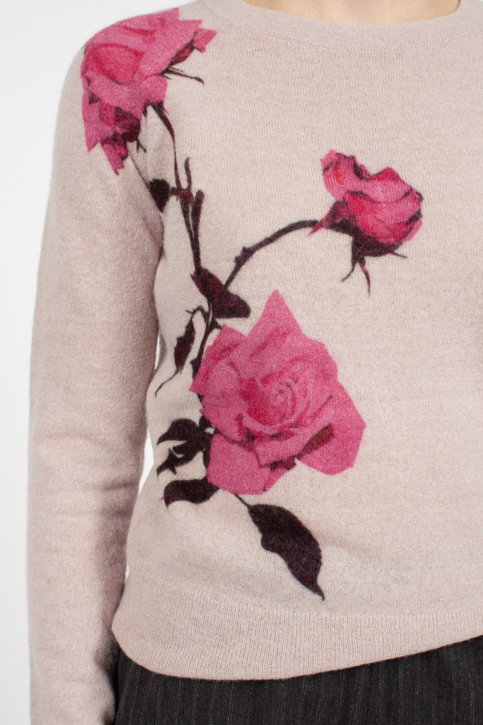 Blush Floral Sweater