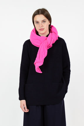 Fuschia Wool Shawl