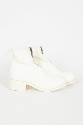 PL1 White Zip Boot