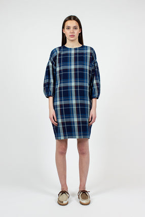 Navy Check Darlene Dress