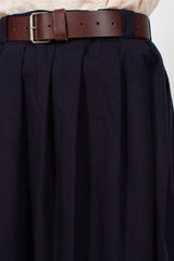 Navy Pleat Skirt
