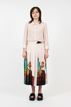Pink Lady Pleated Skirt