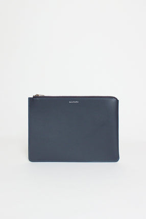 Dark Blue Malachite S Leather Pouch