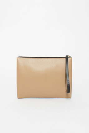 Black/Camel Clutch Bag