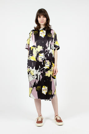 Silk Oversized Shirt Dress