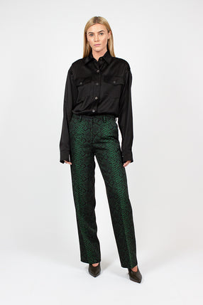 Snake Print Bottle Green Pant