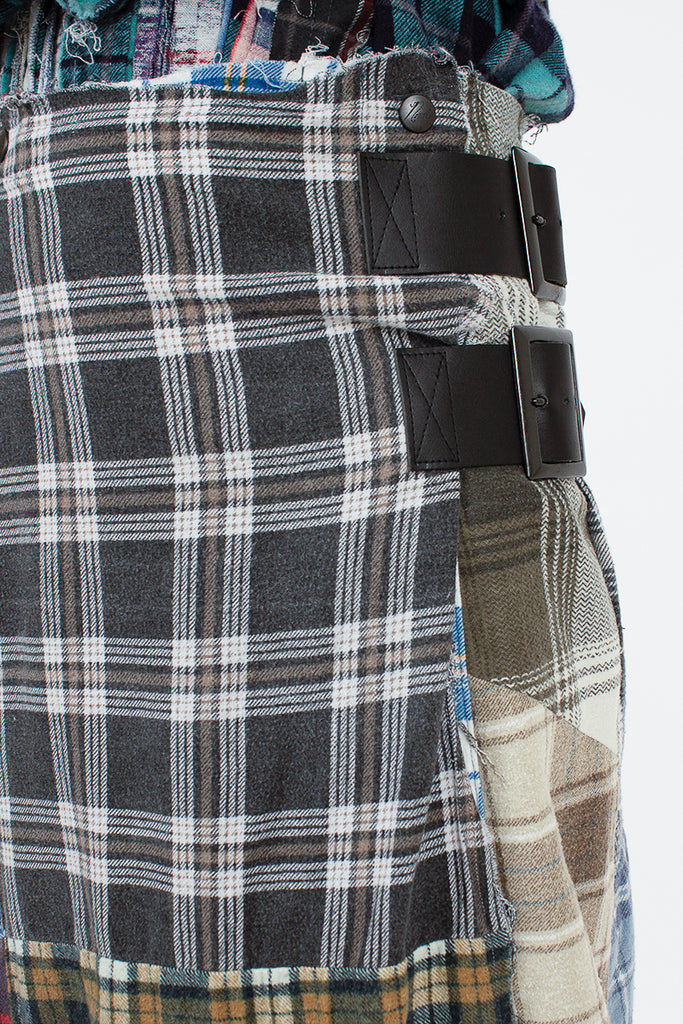 Rebuild Flannel Brown Wrap Skirt