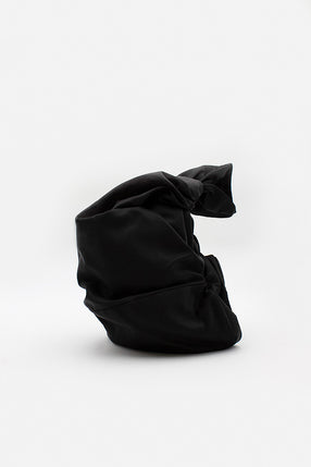 Black Taffeta Drop Bag