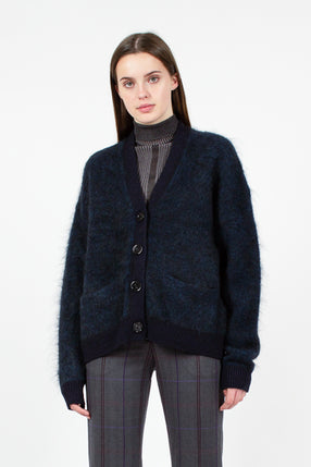 Rives Mohair Petrol Cardigan