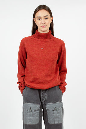 Seamless Roll Neck Sweater Burnt Orange