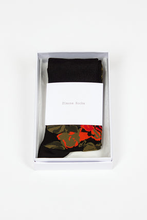 Rose Jacquard Ankle Sock