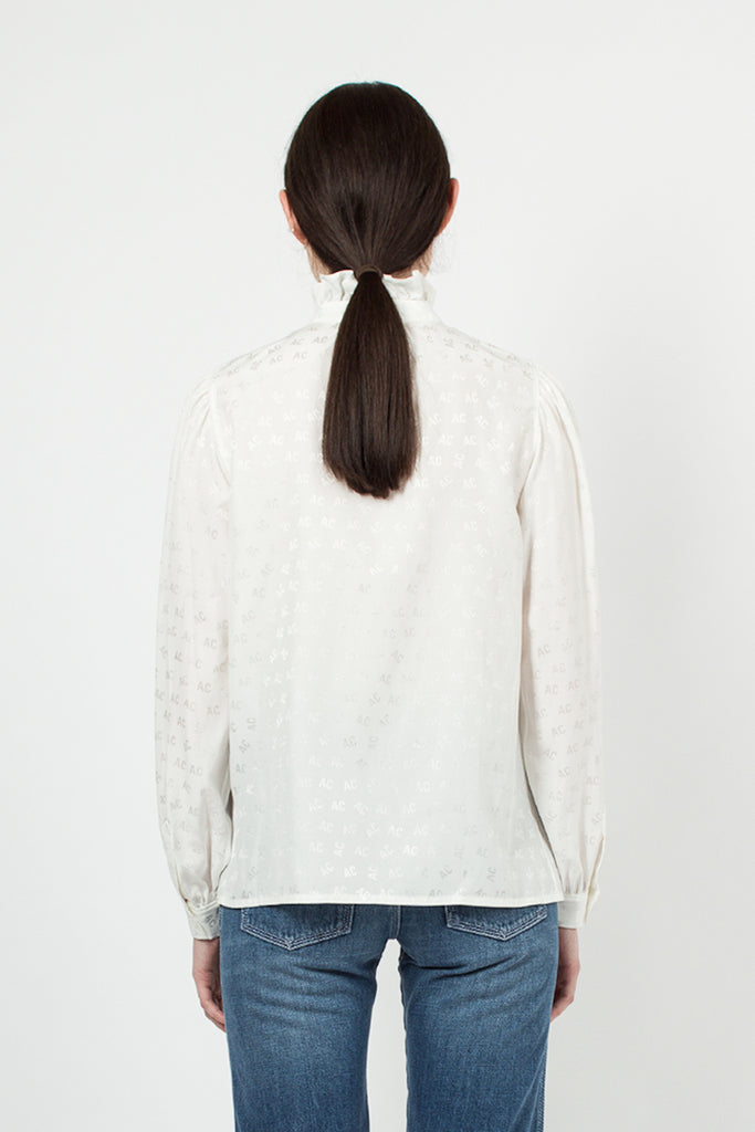 Ivory Ruffle Collar Blouse