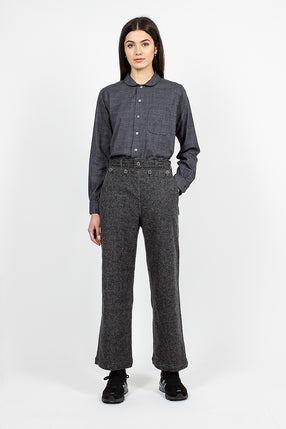 Sailor Pant Grey Wool Herringbone