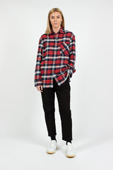 Red/Navy Face Flannel