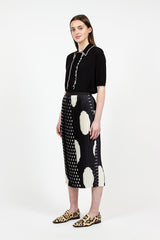 Sarean Pleated Spot Skirt