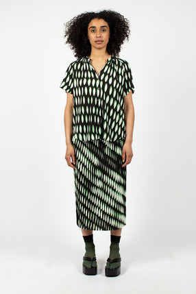 Sarean Pleated Skirt Black/Green