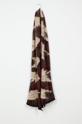 Black Feather Tartan Scarf