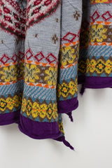 Grey Fair Isle Olympic Muffler