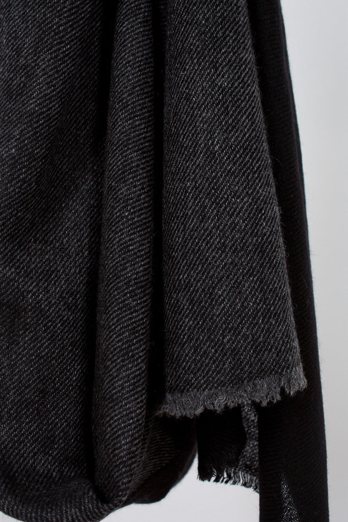 Charcoal and Black Melange Stole