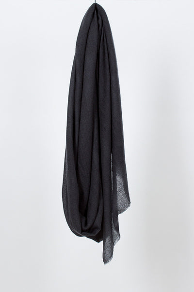 Dark Charcoal Ring Shawl