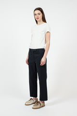 Navy Seamed Trouser