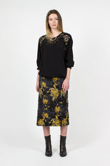 Selma Floral Embossed Skirt
