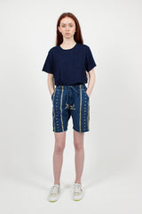 New Yorker Indigo Print Short