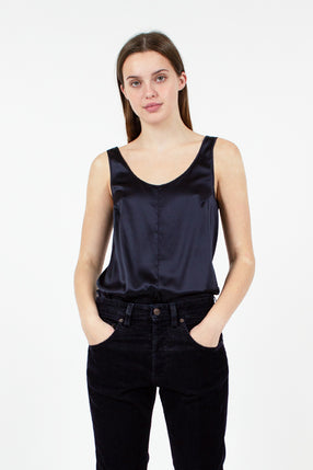 Midnight Silk Vest