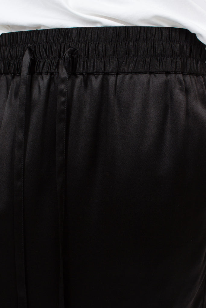 Black Silk Board Skirt