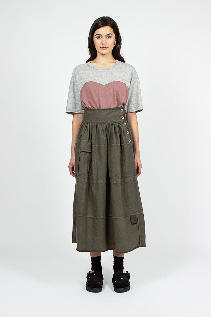 Elevation Mil Olive Skirt