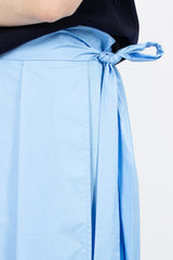 Stella Pleated Midi Skirt Sky Blue