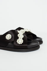 Beaded Satin Slide