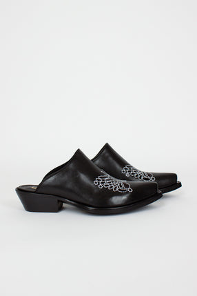 Black Papillon Mules